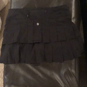 Lululemon black skirt with shorts attached
